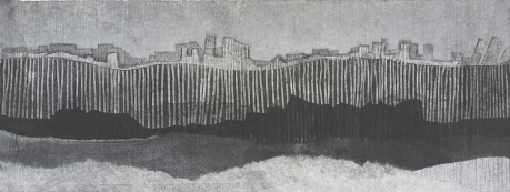 landscape with barrier
